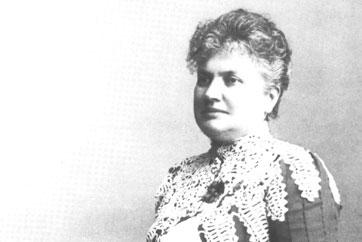 Porträtt av Wilhelmina Skogh.