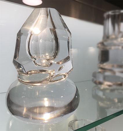 Glasskulptur av Simon Klenell.