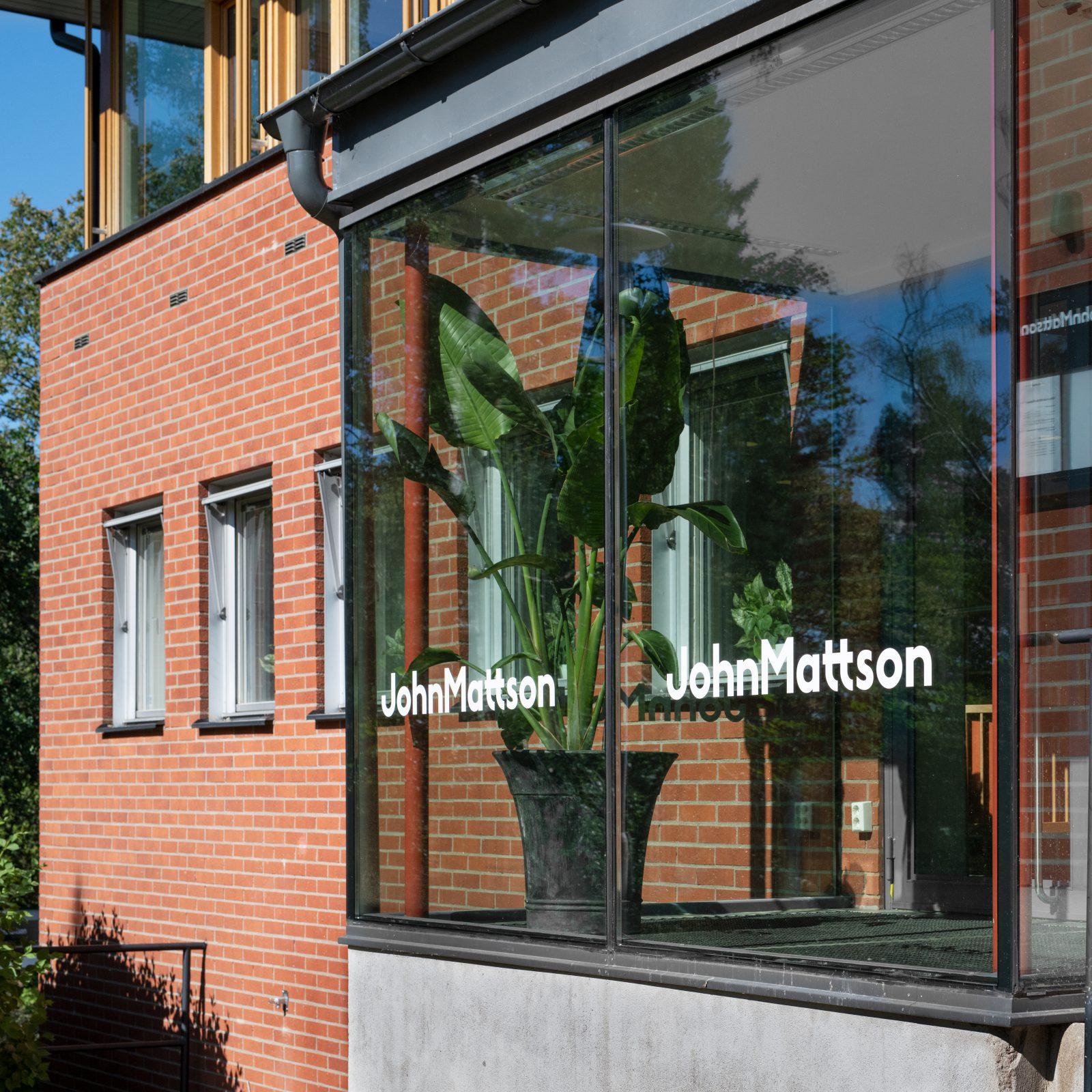 John Mattsons kontor sett utifrån.
