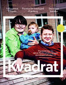 Omslaget till John Mattsons kundtidning Kvadrat, höstnumret 2018.