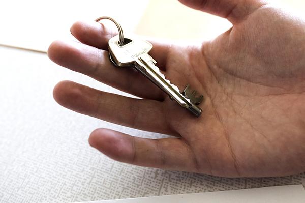 Nycklar i en handflata